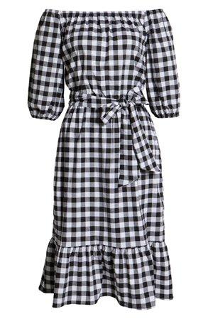 Gibson Off the Shoulder Tie Waist Dress | Nordstrom