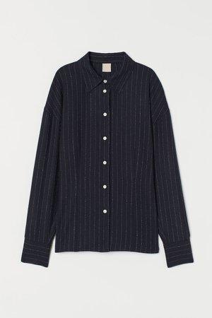 Wool-blend Shirt - Blue