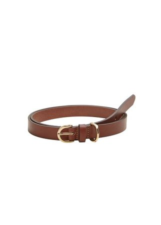 MANGO Buckle leather belt