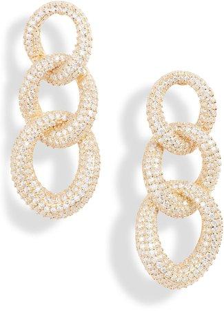 Chunky Pave Chain Drop Earrings