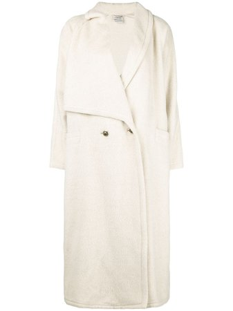 Versace Pre-Owned Asymmetric Lapels Long Coat - Farfetch