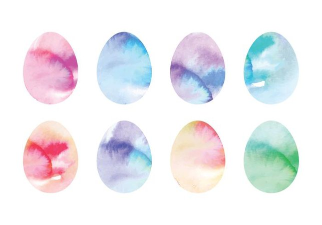 watercolor easter blue eggs - Google Search