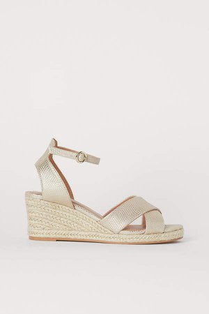 Wedge-heel Sandals - Gold