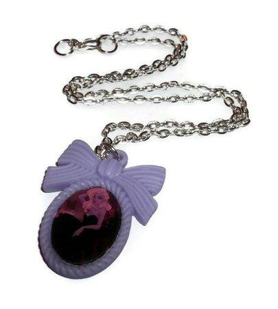 Ursula Necklace Purple Cameo Necklace Alternative Disney | Etsy
