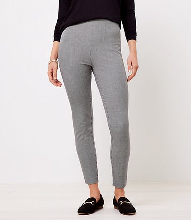 The Petite Side Zip High Waist Skinny Pant in Puppytooth