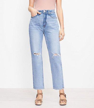 The 90s Straight Jean in Light Authentic Indigo Wash