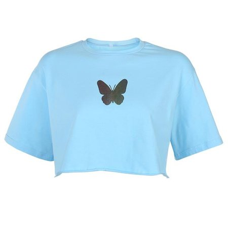 butterfly top blue