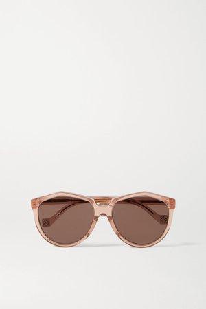 Antique rose Round-frame acetate sunglasses   Loewe   NET-A-PORTER