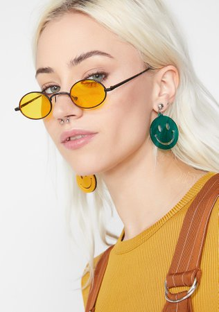 Yellow Tinted Lenses Round Sunglasses | Dolls Kill