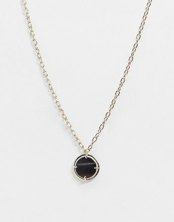 & Other Stories necklace in black and gold | ASOS