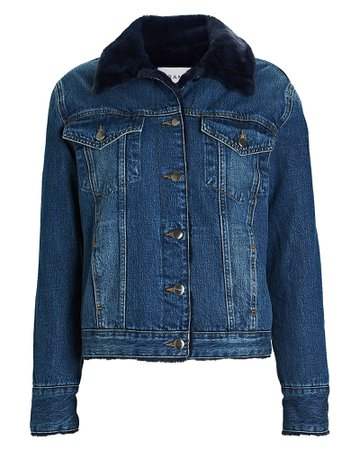 FRAME | Faux Fur-Lined Denim Jacket | INTERMIX®