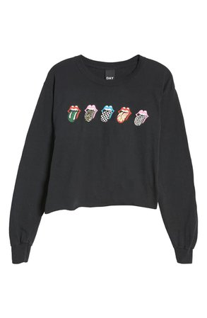 Day Rolling Stones Tongue Long Sleeve Graphic Tee | Nordstrom