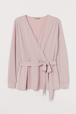 H&M+ Wrapover Top - Pink