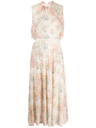 Shop pink RedValentino floral sleeveless dress with Express Delivery - Farfetch