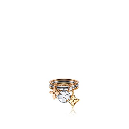 Idylle Blossom pampilles ring, 3 golds and diamonds - Jewellery and Timepieces   LOUIS VUITTON