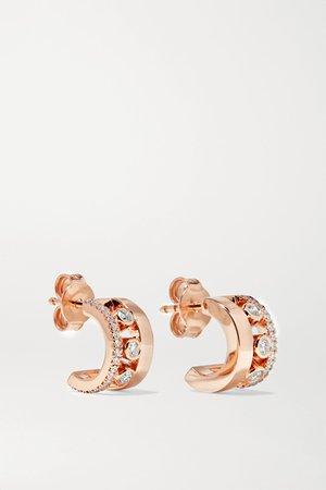 Rose gold Move Romane 18-karat rose gold diamond hoop earrings   Messika   NET-A-PORTER
