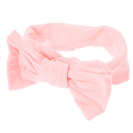 Claire's Club Pink Mesh Bow Headwrap | Claire's US