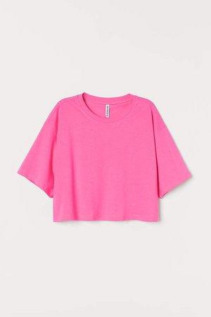 Cropped T-shirt - Pink