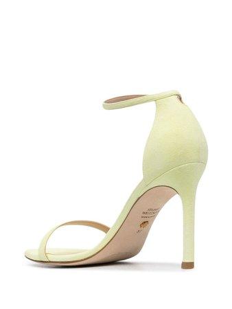 Stuart Weitzman square-toe leather sandals