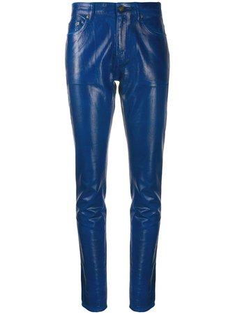 Saint Laurent Skinny Patent Style Trousers - Farfetch