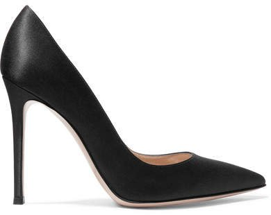 105 Satin Pumps - Black