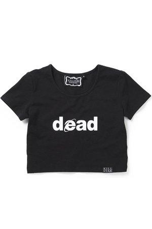 Dead Scoop Neck Crop Top [B] | KILLSTAR - US Store