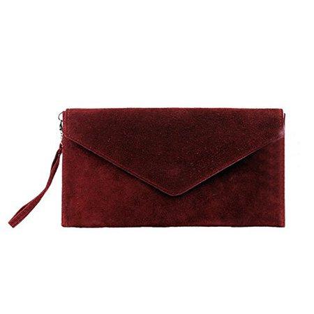 dark red clutch