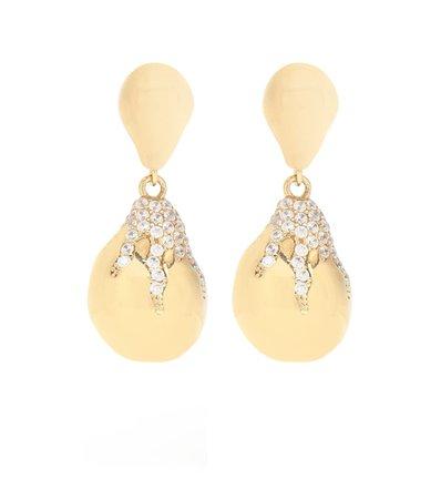 Cubic Zirconia Drop Earrings | Bottega Veneta - Mytheresa