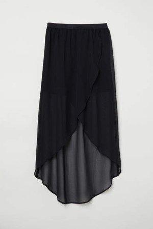 Wrapover Skirt - Black