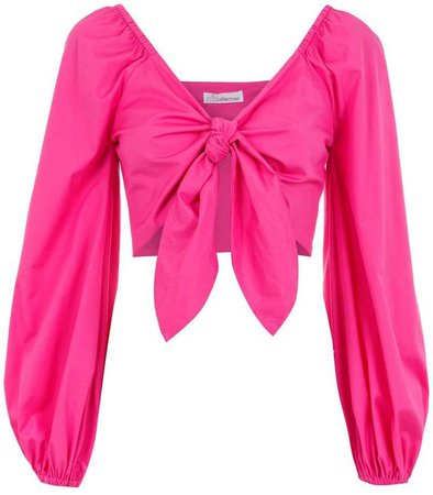 Nk knot cropped blouse