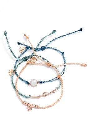 Pura Vida Forest Dawn 3-Pack String Bracelets | Nordstrom