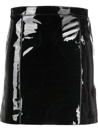 Manokhi Short patent-leather Skirt - Farfetch