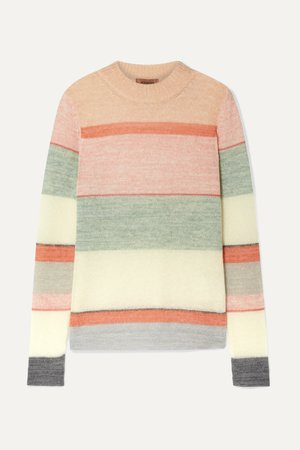 Pink Striped knitted sweater | Missoni | NET-A-PORTER