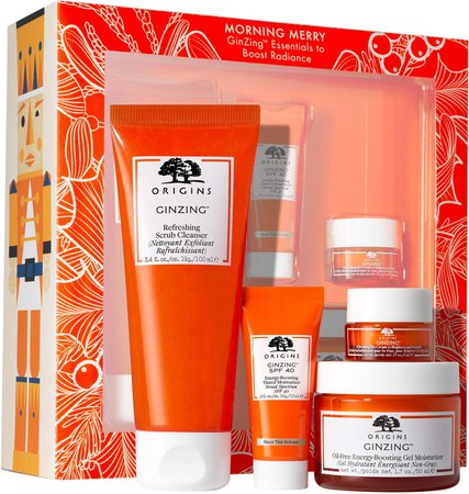 Morning Merry GinZing(TM) Essentials to Boost Radiance Skin Care Set