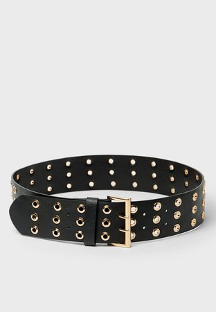 Wide belt with eyelets - Women's Just in | Stradivarius United States