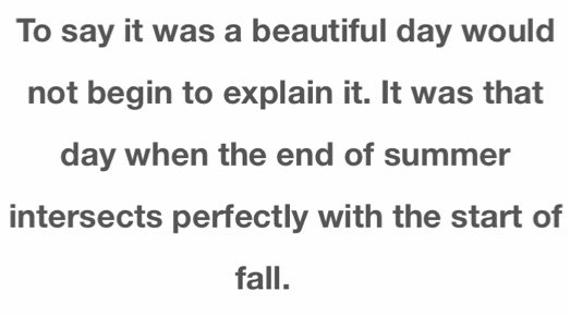 summer and fall