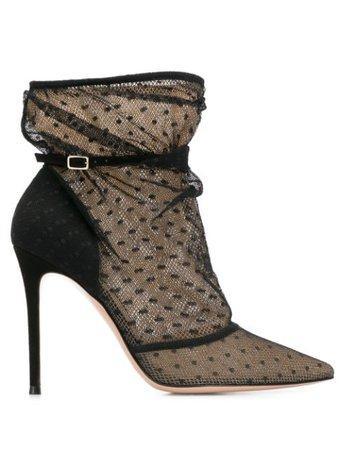 Gianvito Rossi net polka dot boots black G7350815RICBCU - Farfetch
