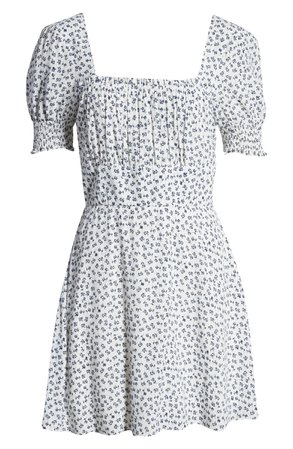 Row A Emma Smocked Minidress | Nordstrom