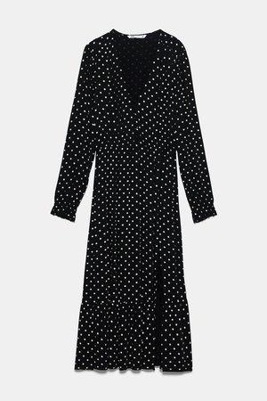 POLKA DOT PRINT MIDI DRESS - View all-DRESSES-WOMAN | ZARA United Kingdom