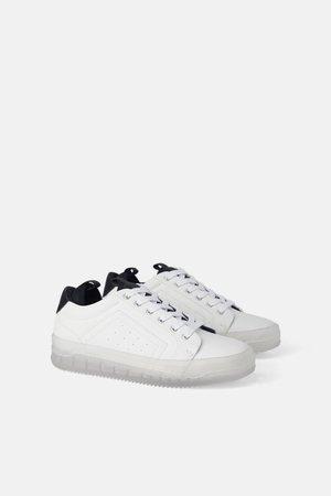 SNEAKERS MET TRANSPARANTE ZOOL - Sneakers-SCHOENEN-DAMES   ZARA Nederland