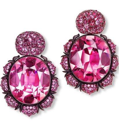earring diamond pink