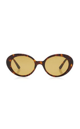 Parquet Oval-Frame Acetate Sunglasses By Oliver Peoples The Row | Moda Operandi