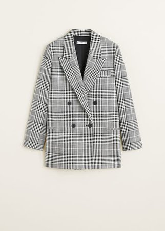 Check suit blazer - Women | Mango USA