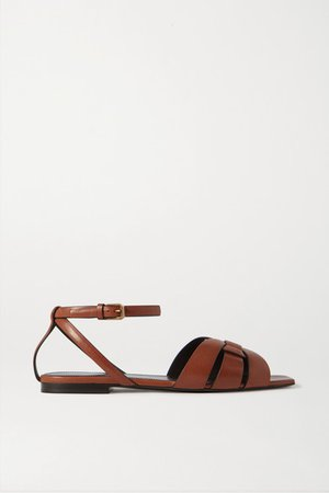 Nu Pieds Woven Leather Sandals - Tan