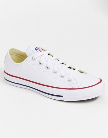 Converse Chuck Taylor All Star Ox white leather sneakers | ASOS
