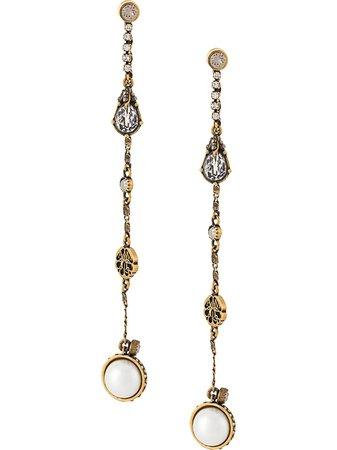 Alexander McQueen Mismatched Chain Drop Earrings - Farfetch