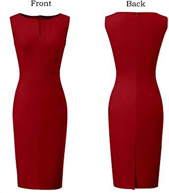 Womens Slim Zipper Work Business Office Party Sheath Dress