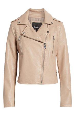 Sam Edelman Washed Faux Leather Moto Jacket   Nordstrom