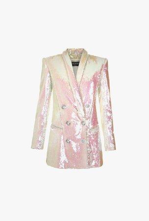 Short Sequined Jacket Dress for Women - Balmain.com