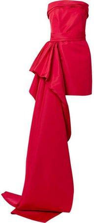 Reem Acra - Silk-faille Mini Dress - Red